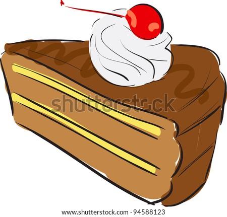 Cake Cartoon Sketch Vector Illustration 94588123