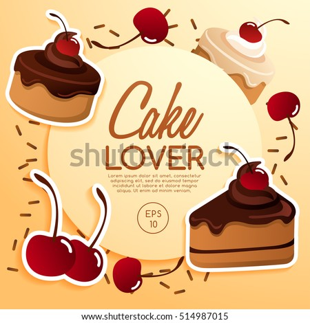 cake elements   vector