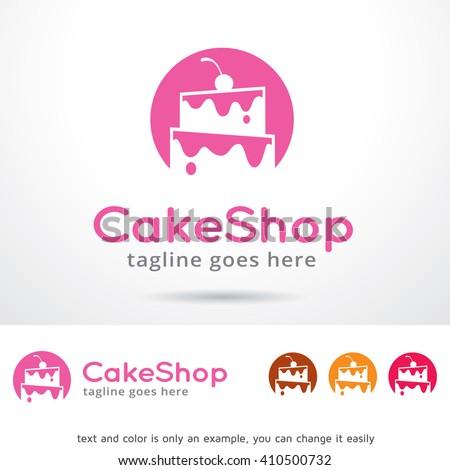 Cake Shop Logo Template Design Vector