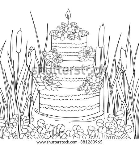 cake swamp hand drawn ethnic