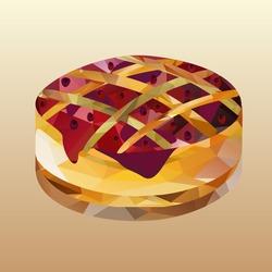 cake with jam polygon
