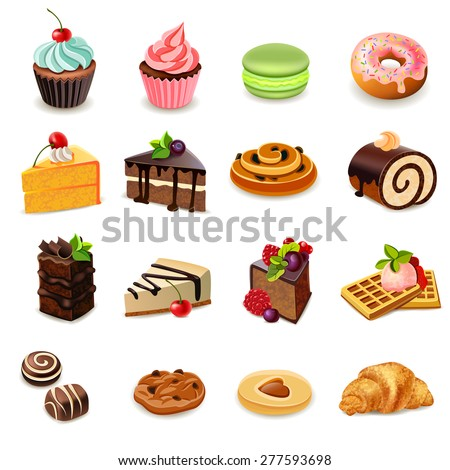 cakes and sweets decorative