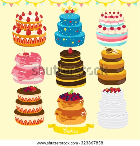 cakes vector design illustration