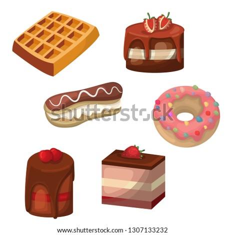 cakes vector illustration