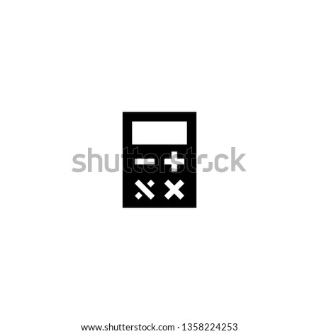 calculating icon vector. calculating vector graphic illustration
