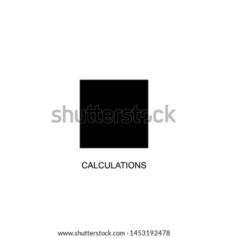calculations icon vector black design
