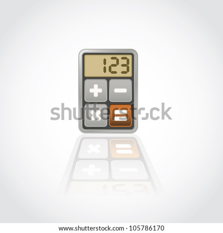 Calculator, application icon - isolated illustration - stock vector