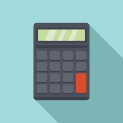 Calculator estimator icon. Flat illustration of calculator estimator vector icon for web design