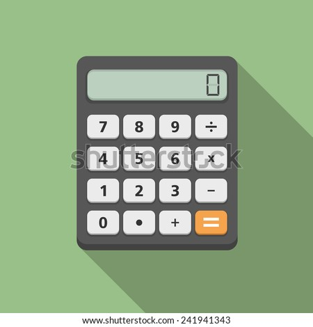 Calculator, flat design, vector eps10 illustration