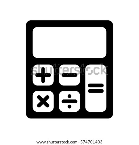 Calculator icon, black isolated vector illustration.