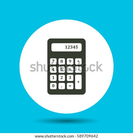 Calculator icon. Calculator vector isolated. Flat vector illustration in black. EPS