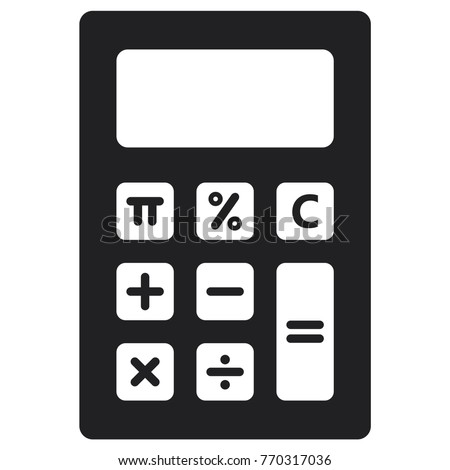 calculator icon, flat design best calculator icon