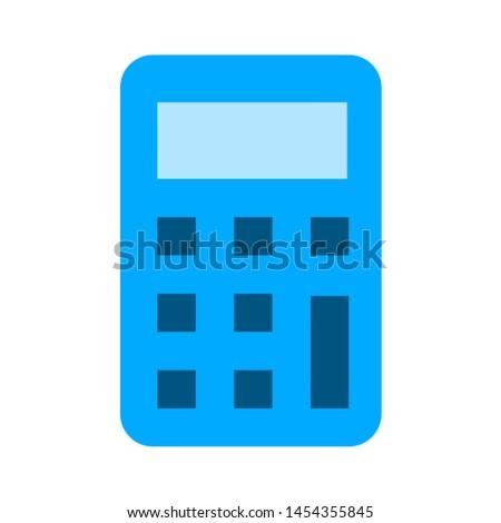 calculator icon. flat illustration of calculator. vector icon. calculator sign symbol