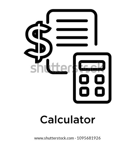 Calculator icon isolated on white background for your web and mobile app design, calculator vector iconic concept