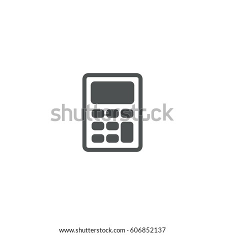 calculator icon. sign design