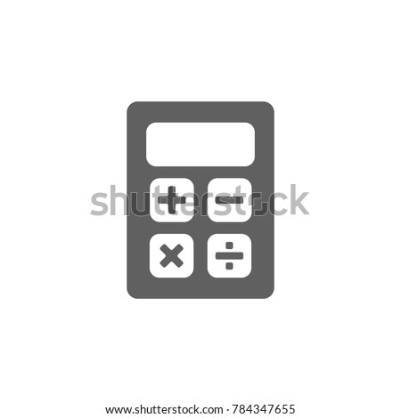 Calculator icon vector