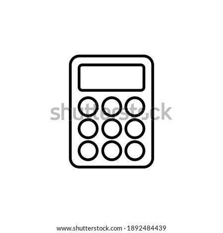 Calculator icon vector. Accounting calculator icon. calculator vector