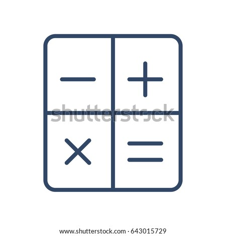 Calculator Icon Vector Illustration