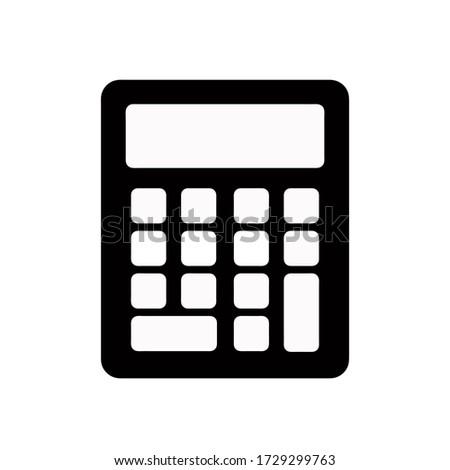 Calculator icon, vector illustration. Flat design style. vector calculator icon illustration isolated on white background, calculator icon Eps10. calculator icons graphic design vector symbols.