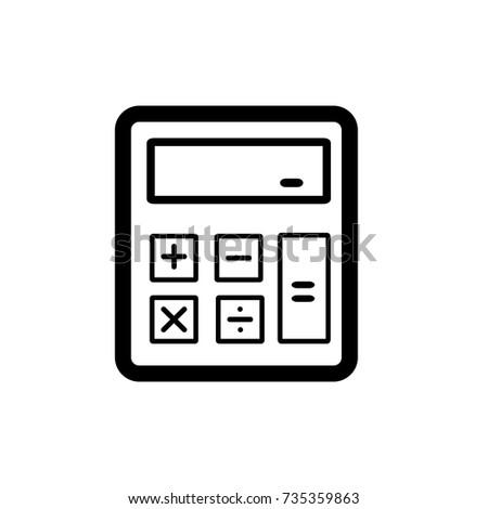 calculator icon,vector illustration. Flat design style. vector calculator icon illustration isolated on White background, calculator icon Eps10. calculator icons graphic design vector symbols