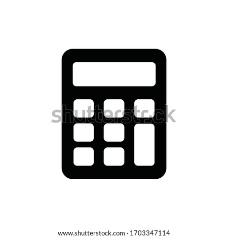 Calculator icon vector. Savings, finances sign isolated on white, economy concept, Trendy Flat style for graphic design, Web site, UI. EPS10 ストックフォト ©