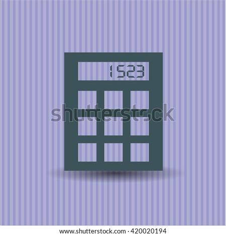 calculator icon vector symbol flat eps jpg app web concept