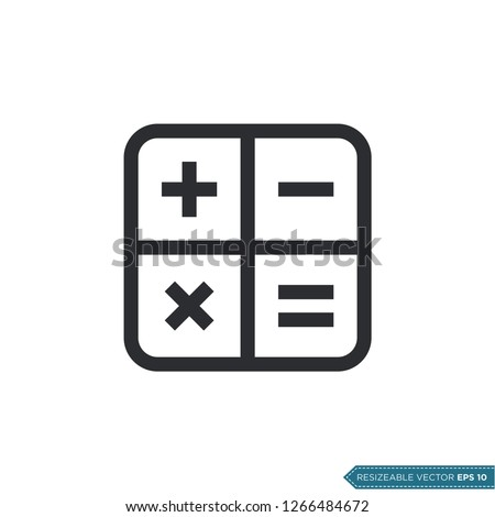 Calculator Icon Vector Template
