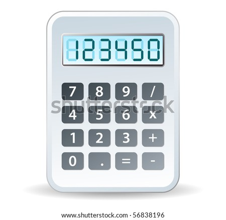 calculator in white tones for tax