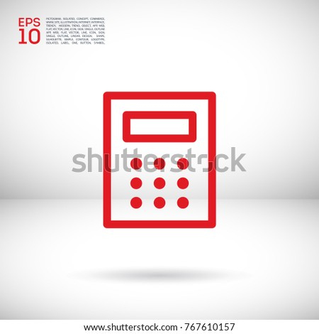 calculator line vector icon