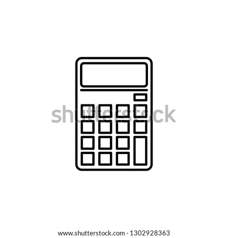 calculator, math icon. Element of education illustration. Signs and symbols can be used for web, logo, mobile app, UI, UX