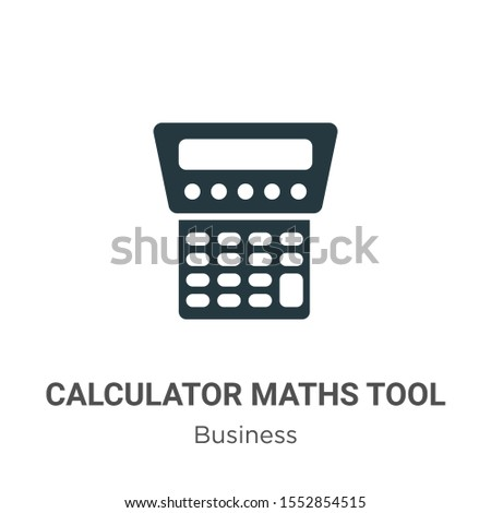 Calculator maths tool vector icon on white background. Flat vector calculator maths tool icon symbol sign from modern business collection for mobile concept and web apps design.