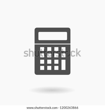 Calculator Silhouette Business Icon Illustration.