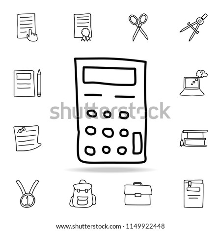 calculator sketch icon. Element of education icon for mobile concept and web apps. Outline calculator sketch icon can be used for web and mobile