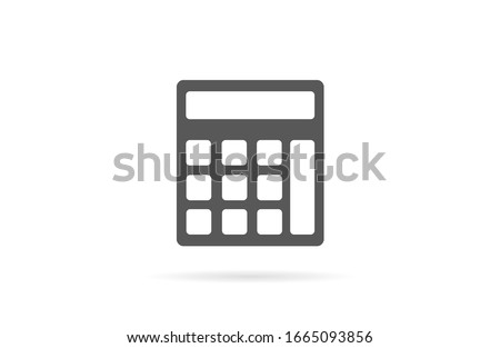 Calculator vector icon mathematics . Simple illustration of Calculator vector icon for web - education math .Calculator vector icon. CCalculator vector icon Calculator School math symbol set.