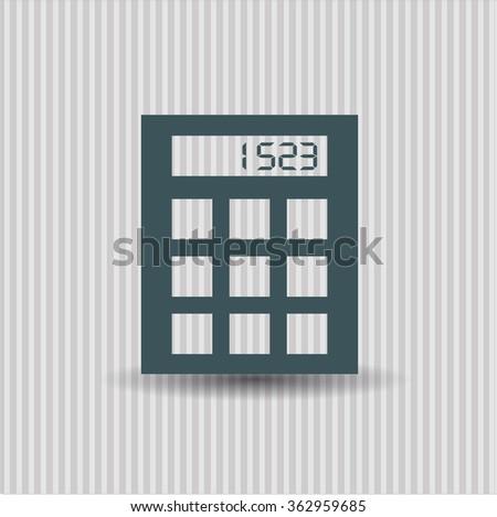 Calculator vector icon or symbol