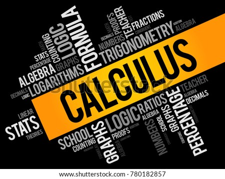 Calculus word cloud collage, education concept background