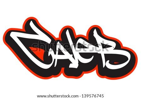 Caleb Graffiti Font Style Name Hip Hop Design Template