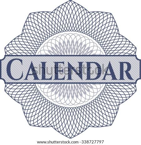 Calendar abstract rosette