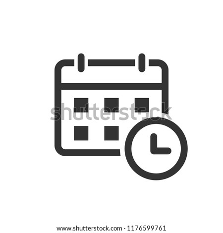 Calendar agenda icon in flat style. Planner vector illustration on white isolated background. Calendar business concept. Stock photo ©