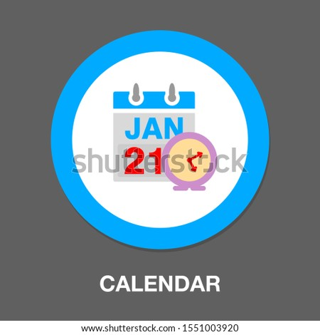 calendar and clock. Concept of class timetable or schedule, personal study plan creation, learning time planning and scheduling