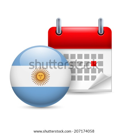 calendar and round argentinian
