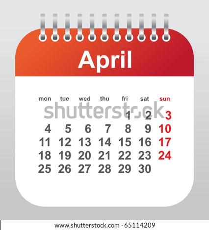calendar 2011: april