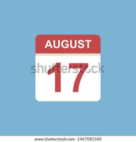 calendar   august 17 icon