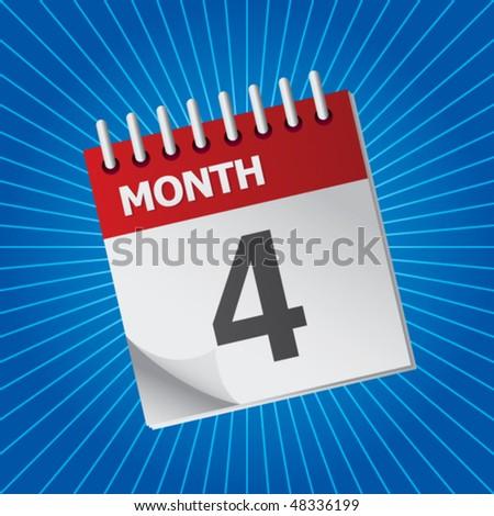 calendar blue starburst
