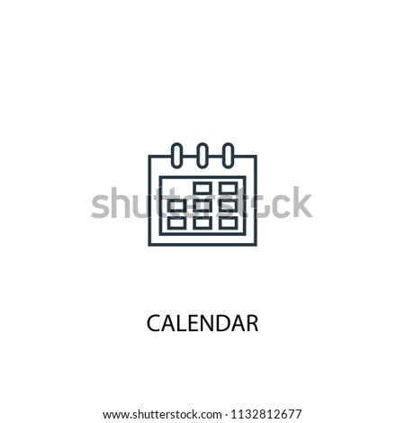Calendar concept line icon. Simple element illustration. Calendar concept outline symbol design from Workspace set. Can be used for web and mobile UI/UX