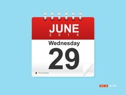 Calendar Date - June 29