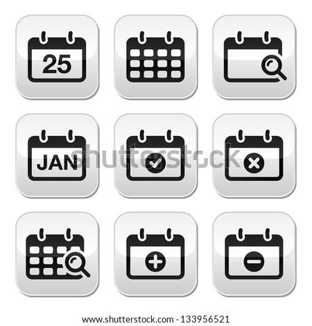 Calendar Date Vector Calendar Date Vector Buttons