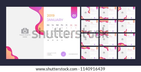 stock-vector-calendar-design-for-simple-red-and-orange-background-week-starts-on-monday-set-of