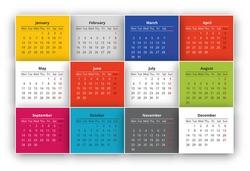 Calendar design for the year 2015