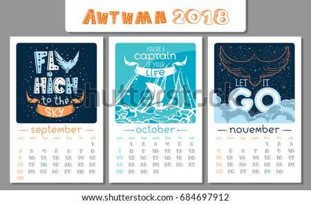 calendar design for 2018 year